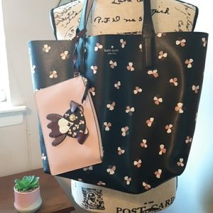 NWT KATE SPADE LARGE TOTE AND MATCHING DOG WALLET